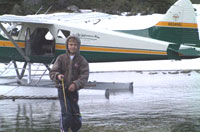 Fishing from a floatplane