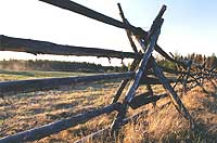 Russel fence is a style particular to the Chilcotin