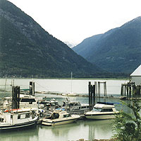 Harbour at Bella Coola, the end destination of the Freedom Highway