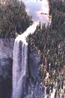 Hunlen Falls has the third longest drop in Canada at over 1000 ft.