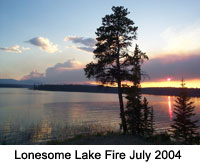 Lonesome Lake Fire in 2004