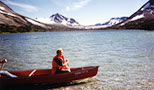 Woman in a canoe photo.
